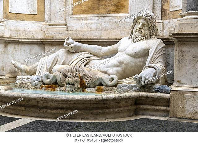 Marforio (Marphurius) is a 1st century Roman marble sculpture of a river god or Oceanus set in a Baroque fountain, in the courtyard of the Palazzo dei...