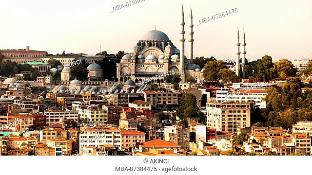 Istanbul, from the Gala Tower overlooking Sultan Ahmet Mosque