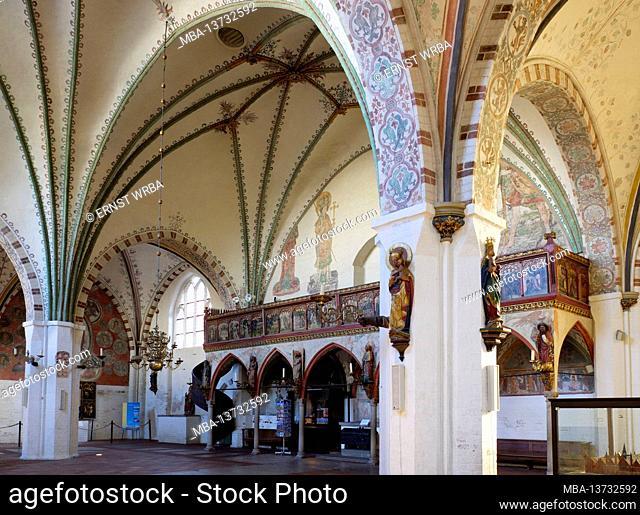 Heilig-Geist-Hospital, inside, old town, Lübeck, Schleswig-Holstein, Germany