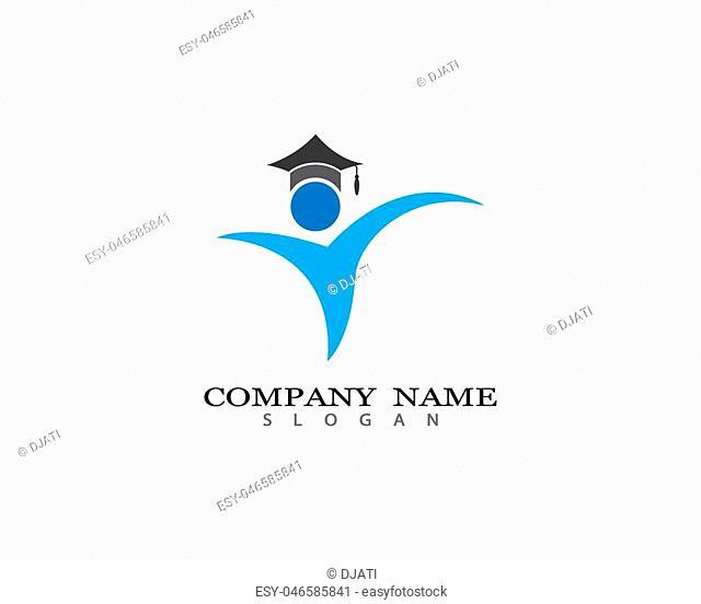 Education Logo Template vector icon illustration design