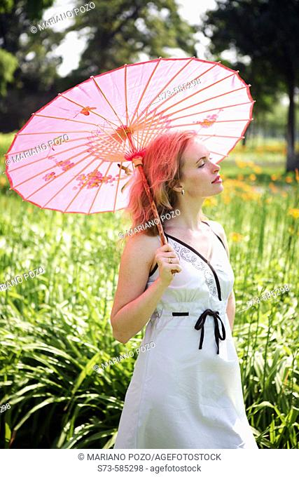 Strolling in Beijing gardens. China