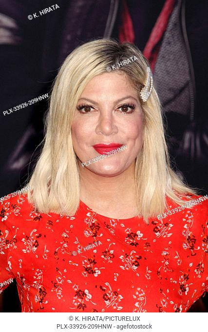 """Tori Spelling 12/09/2019 """"""""Jumanji: The Next Level"""""""" Premiere held at the TCL Chinese Theatre in Hollywood, CA. Photo by K. Hirata / HNW / PictureLux"""