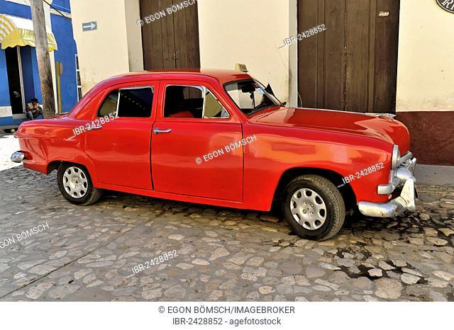 Classic car from the 50s, Trinidad, Sancti Spiritus province, Cuba, Greater Antilles, Central America, America