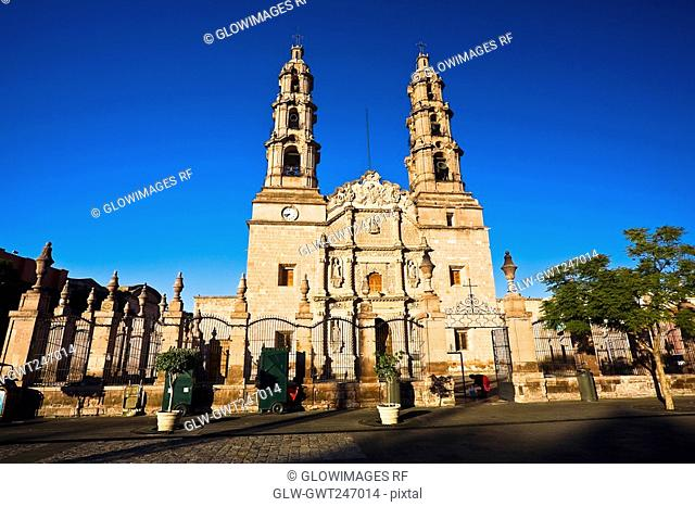 Facade of a cathedral, Catedral De Aguascalientes, Aguascalientes, Mexico