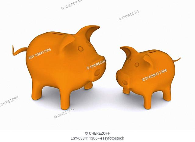 Clay Piggy Bank Stock Photos And Images Age Fotostock