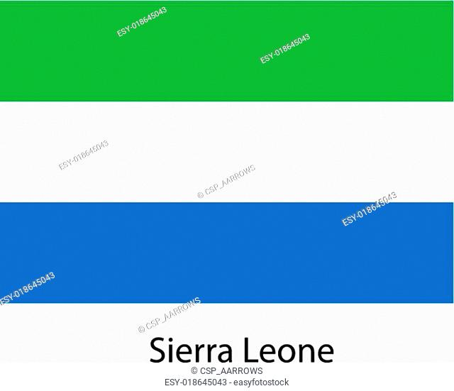 Flag of the country sierra leone. Vector illustration
