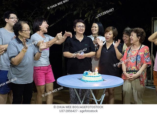 Taichi celebrating 3rd Anniversary party at Badul Homestay, Singai, Sarawak, Malaysia