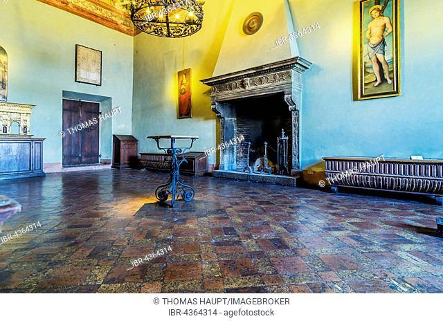 Room at Castello Orsini-Odescalchi, Bracciano, Metropolitan City of Rome, Lazio, Italy