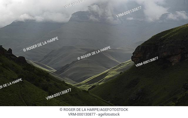 Detail of clouds and mist. Giant's Castle Game Reserve. Ukhlahlamba Drakensberg Park. KwaZulu Natal. South Africa