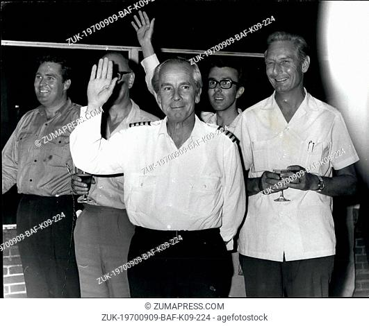Sep. 09, 1970 - Hijack Britons Arrive Safely Home: The eight Britons, accompanied by six Swiss and two Germans, who were rescued by Jordanian troops after being...