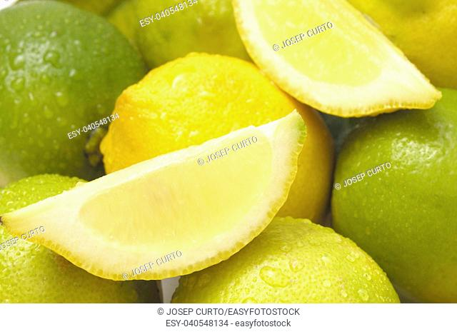 close up of lime and lemon