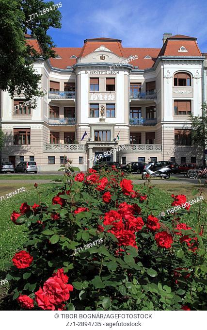 Hungary, Szeged, street scene, historic architecture