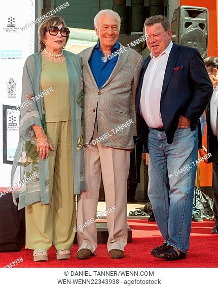 Hollywood legend Christopher Plummer's hand and footprint ceremony at the TCL Chinese Theatre IMAX during the 2015 TCM Classic Film Festival Featuring:...