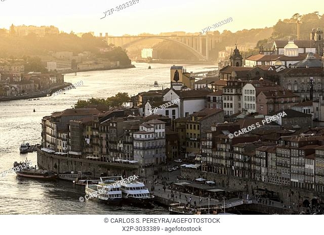 View of the old town of Porto. Portugal
