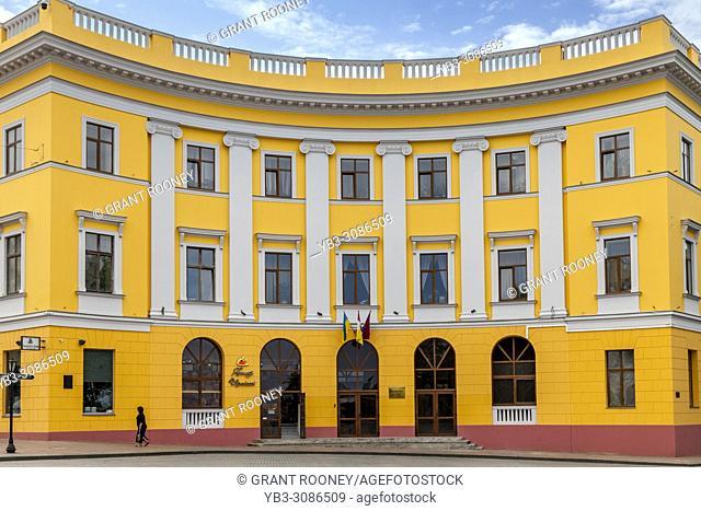 Colourful Buildings In Square De Richelieu, Odessa, Ukraine