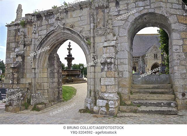 parish enclosure at st jean du Doigt, finistère, brittany, france