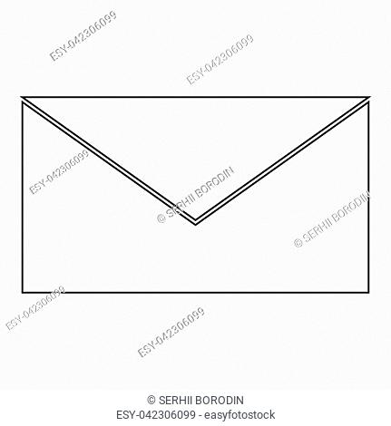 Mail the black color icon vector illustration