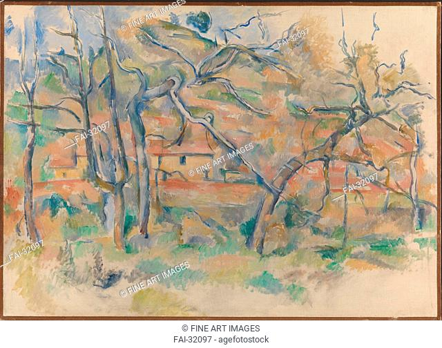Trees and houses, Provence by Cézanne, Paul (1839-1906)/Oil on canvas/Postimpressionism/1884-1886/France/National Museum of Art, Oslo/59x81