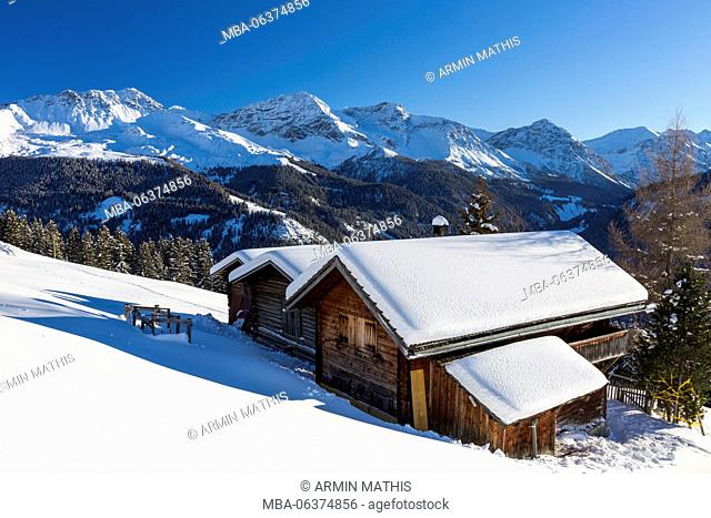 Winter scenery close to Arosa, Switzerland