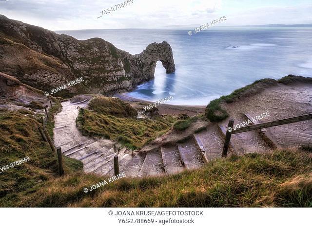 Durdle Door, Lulworth, Jurassic Coast, Dorset, England, UK