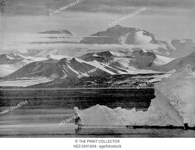 'Telephotograph of the Mount Lister Scarp', 10 February 1911, (1913). Artist: Herbert Ponting