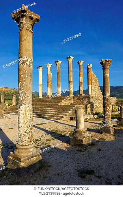 The Corintian columns of Capitoline Temple dedicated to the three chief divinities of the Roman state, Jupiter, Juno and Minerva