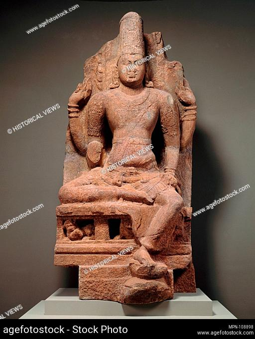 Enthroned Vishnu. Period: Pandyan period (early 4th-13th century); Date: second half of the 8th-early 9th century; Culture: India; Medium: Granulite;...