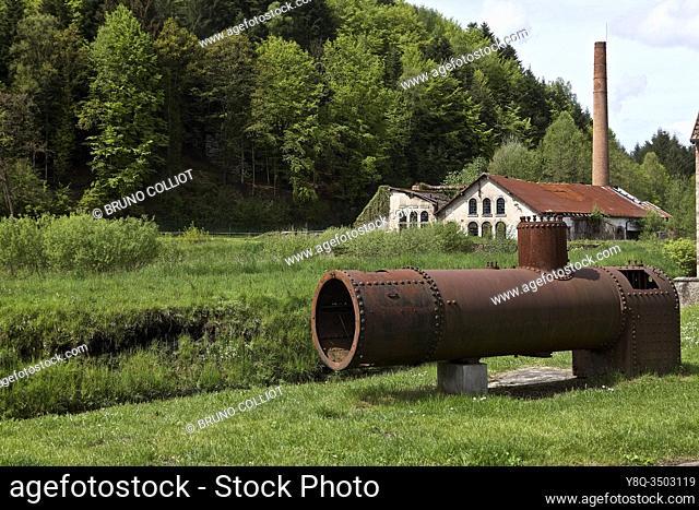gr 534, old factory chimney at Abreschviller, la moselle, france