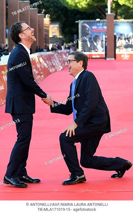 Director Ethan Coen with Antonio Monda RomeFF director. Rome Italy, 17-10-2019