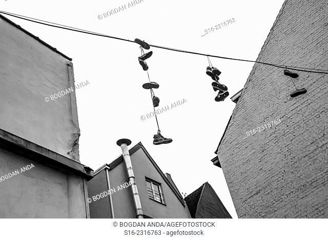 Bruxelles, Belgium - Shoe flinging