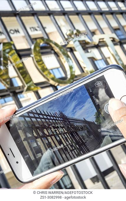 Taking a photo at Moet & Chandon Avenue de Champagne Epernay Marne Grand Est France