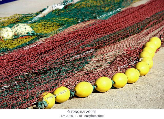 Fishing boat equipment detail: net, arts macro