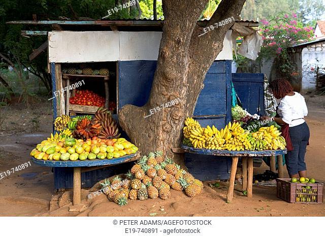 Fruits and vegetables stall, Malindi, Kenya