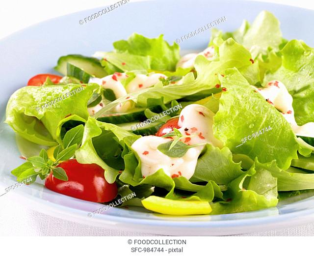 Salad with cocktail sauce
