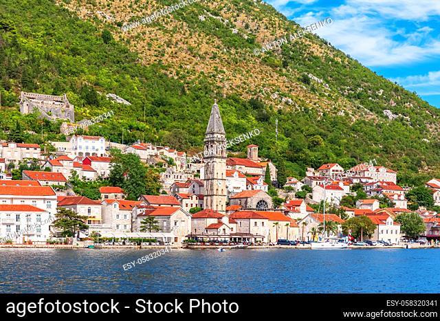 Famous old town Perast near Kotor, Montenegro