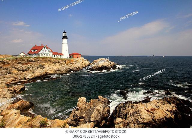 Portland Head Lighthouse in Portland Maine USA