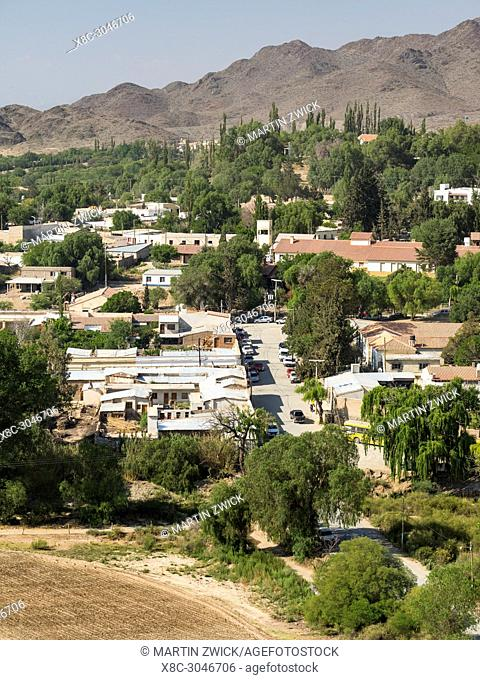 Small town Cachi in the region Valles Calchaquies, province Salta. South America, Argentina, November