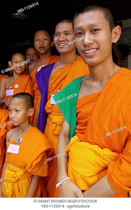 Young Monks , Wat Prathat Doi Suthep , Chiang Mai , Thailand