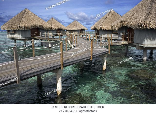 Meridien Hotel on the island of Tahiti, French Polynesia, Tahiti Nui, Society Islands, French Polynesia, South Pacific