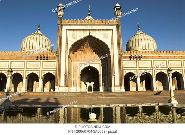 Facade of a mosque, Jama Masjid, New Delhi, India