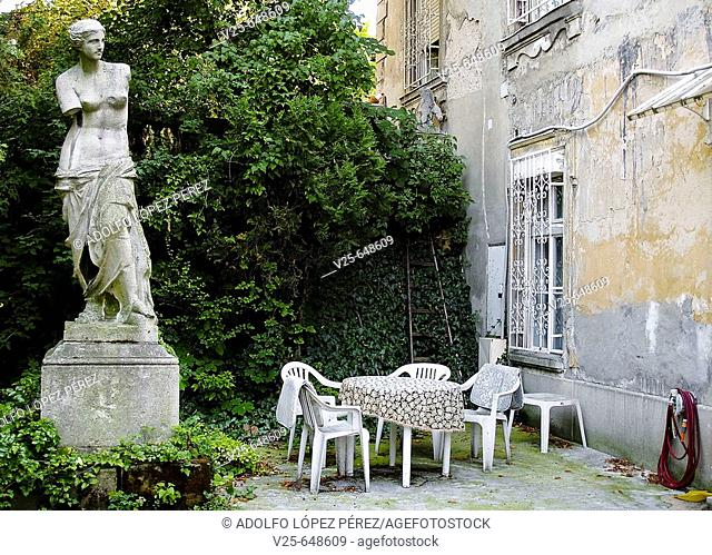Courtyard in a house in Budapest. Hungary