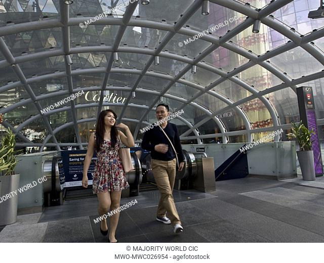 Orchard road luxury shopping street in Singapore