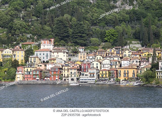 Varenna in Como lake Lombardy Italy on April 15, 2017