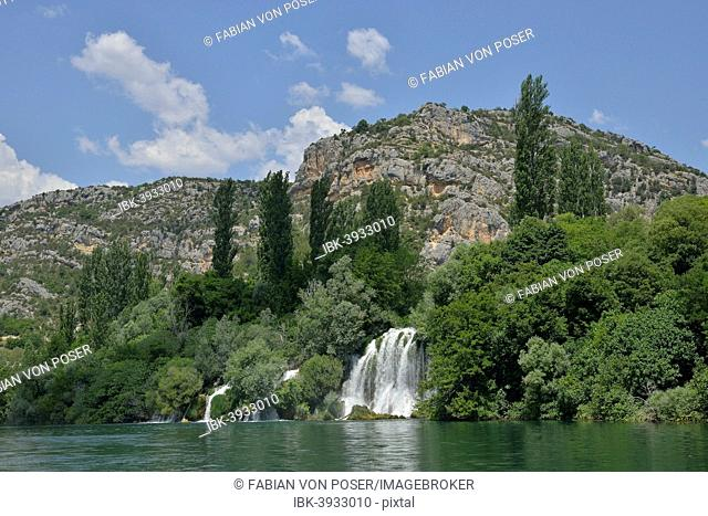 Roški slap waterfall, Krka National Park, Šibenik-Knin County, Dalmatia, Croatia