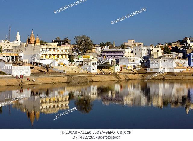 The holy lake and the village of Pushkar,pushkar, Rajasthan, india