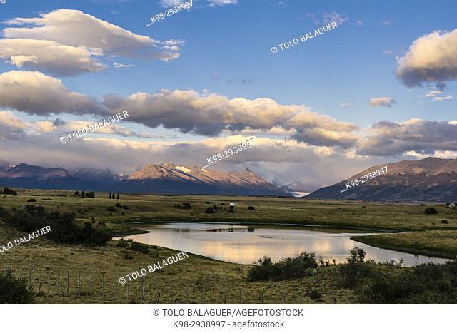 Pampas near Lago Roca, El Calafate , Parque Nacional Los Glaciares Patagonia, Argentina