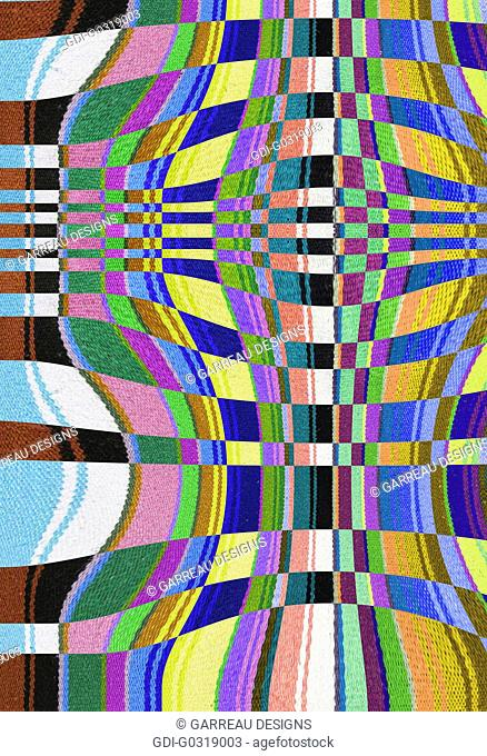 Distorted lines of color