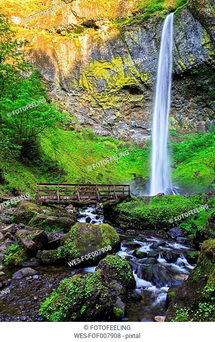 USA, Oregon, Multnomah County, Columbia River Gorge, Elowah Falls