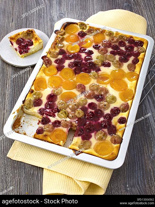 Fruit quark cake