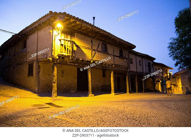 Medieval village of Calatanazor by dusk in Soria region, northern Spain on June 10, 2017
